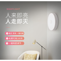 五光十色卧室床头人体感应小夜灯自动光控体感led充电磁吸小夜灯JJ0197