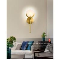 全铜卧室床头壁灯客厅简约现代阳台户外圆球灯创意灯具