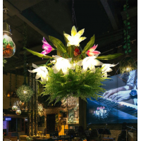 植物吊灯酒吧主题餐厅创意款田园绿植咖啡厅艺术吊灯RZ0009