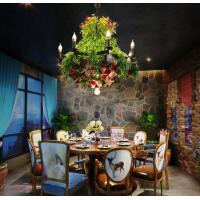 装饰咖啡厅音乐餐吧灯工装软装饰吊灯包间植物大型吊灯RZ0010