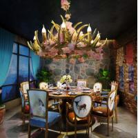 植物鹿角吊灯工业风酒吧餐吧复古音乐餐厅装饰灯RZ0013