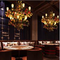 麻绳吊灯餐厅酒吧音乐餐吧植物吊灯工业风RZ0014