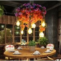 餐厅灯具创意个性吊灯音乐餐吧复古工业风繁花植物吊灯RZ0016