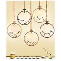 古香古色禅意新中式小吊灯餐吊创意个性玄关走廊阳台全铜单头吊灯