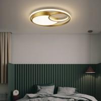 全铜卧室吸顶灯现代简约led温馨浪漫房间书房灯北欧创意个性灯具JJ0291