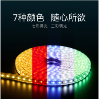 led灯带5050防水高压5730LED贴片柔性软灯条2835双排三排220v灯带SZ0111