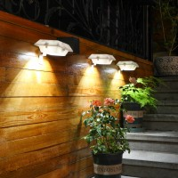 太阳能户外庭院灯家用防水围墙篱笆装饰花园院子人体感应照明壁灯HW0248