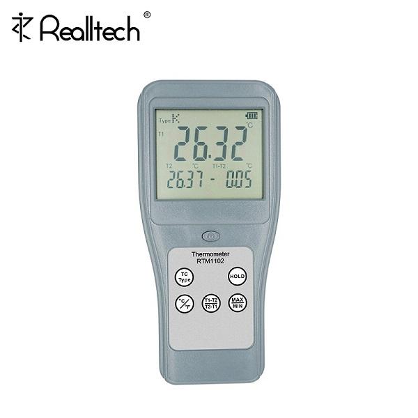 RTM1102高精度电子温度计K型接触式双通道热电偶测温仪
