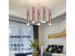 led双管圆球造型吊线灯 吧台咖啡厅创意吊灯吸顶圆形长筒吊灯JJ0366