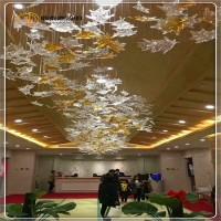 枫叶手工玻璃灯